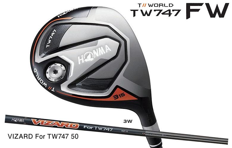 【★】本間ゴルフ ツアーワールド TW747 FWHONMAgolf TOUR WORLD TW747 FAIRWAY WOODフェアウェイウッド VIZARD for TW747 50 シャフト