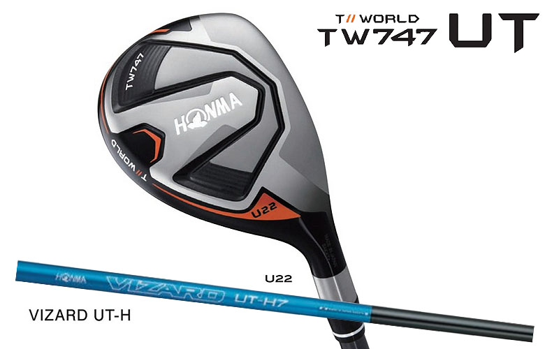 【★】本間ゴルフ ツアーワールド TW747 UTHONMAgolf TOUR WORLD TW747 UTILITYユーティリティ VIZARD UT-H シャフト【送料無料】
