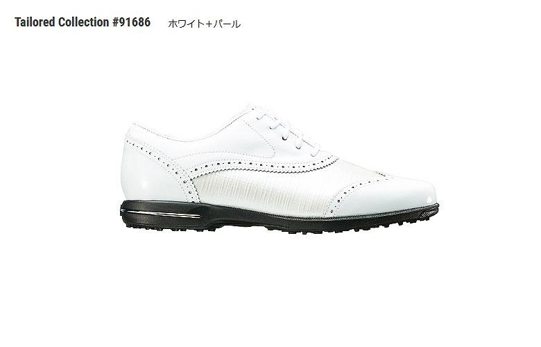【★】テーラードコレクション【91686】ホワイト/パール(W)FOOT JOY TAILORED COLLECTIONフットジョイ 日本モデル レディースゴルフシューズ【2018年NEW】
