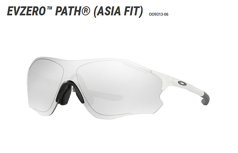 【★】オークリー「EVZero Path 」【OO9313-06/Matte White×Clear Black Iridium Photochromic Activated】日本正規品(Asia Fit)【送料無料】931306 サングラス 【在庫商品のみ即納可】