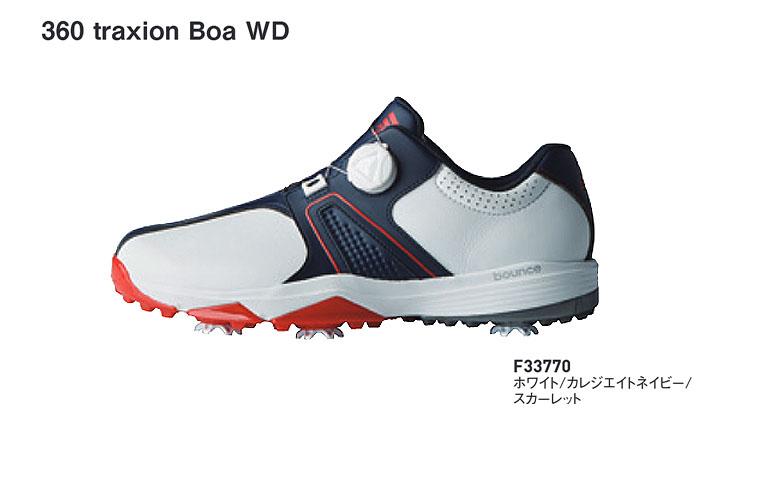 最新エルメス 【★】アディダス ボア 360 トラクション 360 ボア トラクション WD【F33770】adidas 360 Traxion BOA WDホワイト/カレジエイトネイビー/スカーレット【2018年NEWカラー】日本代理店モデル ゴルフシューズ, NSB onlineshop:92002bbe --- pazudorach.xyz