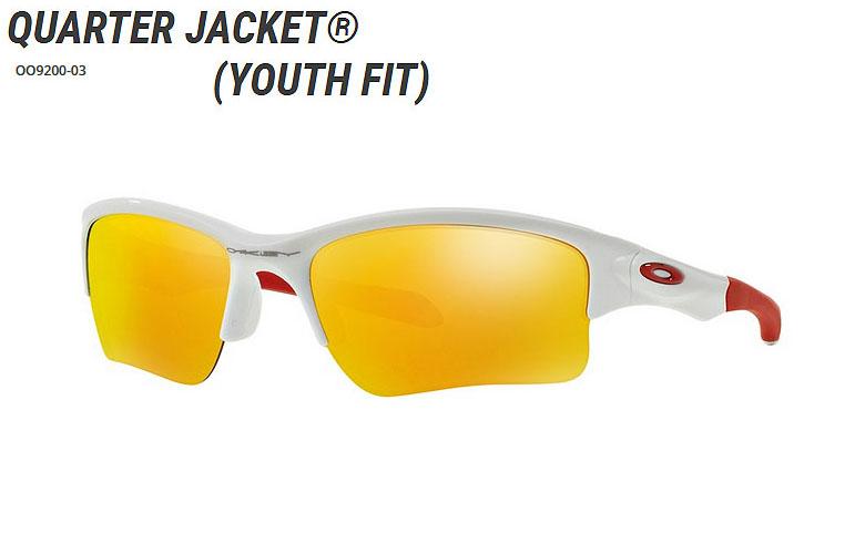 【年中無休】 【★】オークリー「Quarter White×Fire Jacket」【OO9200-03/Polished White×Fire Iridium】日本正規品(Youth Fit)【送料無料】920003 サングラス, 常呂郡:ebeea0c7 --- adesigndeinteriores.com.br
