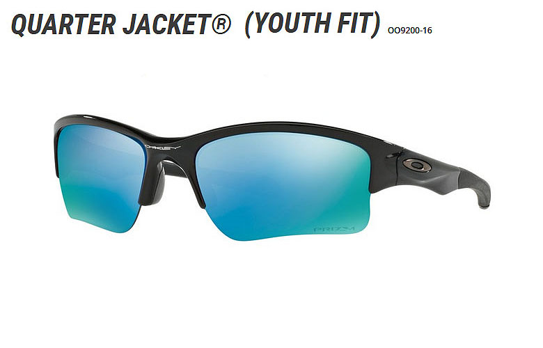 【★】オークリー「Quarter Jacket」【OO9200-16/Polished Black×Prizm Deep Water Polarized】日本正規品(Youth Fit)【送料無料】920016 サングラス