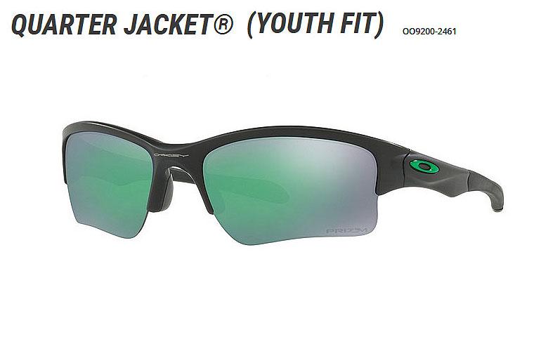 【★】オークリー「Quarter Jacket」【OO9200-2461/Matte Black×Prizm Jade】日本正規品(Youth Fit)【送料無料】92002461 サングラス