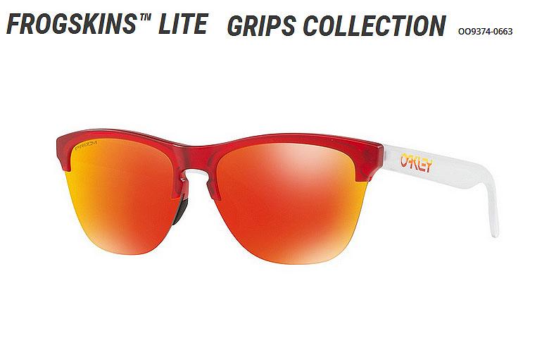 【★】オークリー「Frogskins Lite Grips Collection」【OO9374-0663/Matte Translucent Red×Prizm Ruby】日本正規品 93740663 サングラス 【即納可】