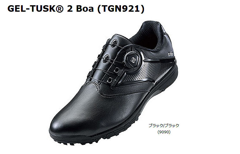 【★】【2017年モデル】ゲルタスク 2 ボアTGN921【9090:ブラック/ブラック】DUNLOP×ASICS ゴルフシューズGEL-TUSK 2 Boa【tgn921】