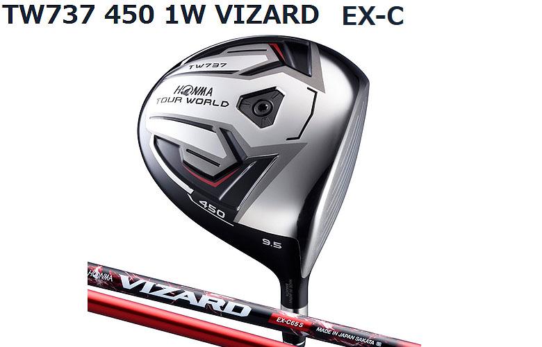 【★】本間ゴルフ ツアーワールド TW737 450HONMAgolf TOUR WORLD TW737 450ドライバー VIZARD EX-C シャフト【送料無料】