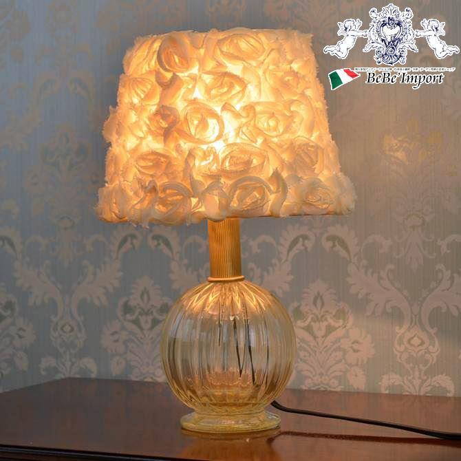 ランプ ベッドサイド アンティーク おしゃれ イタリア製 Italia MARINA ヴェネチアランプ イタリア 高級 ヨーロピアン ロココ 照明 ライト 卓上ランプ シェードランプ テーブルランプ 薔薇 バラ ローズ エレガント クラシック かわいい 姫系