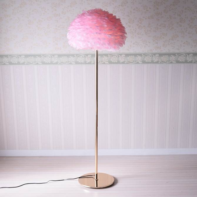 フロアランプ アンティーク ピンク ランプ ベッドサイド おしゃれ ガーリー プリンセス マザーグース 羽調 ロココ フロアーランプ エレガント スタンドライト フロアーライト スタンドランプ シェード 羽根 かわいい ライト 照明器具 フロアスタンド ヨーロピアン 姫系