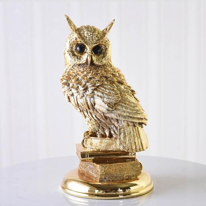 オブジェ モダン ゴールド 開運金運 ふくろう お不苦労な父さん L ヨーロピアン クラシック インテリア雑貨 かっこいい 置物 オーナメント フクロウ 鳥 動物 アニマル デザイン アンティーク調 おしゃれ かわいい