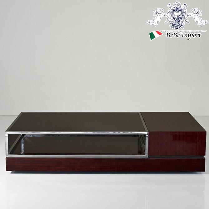 センターテーブル ガラステーブル 木製 モダン 高級 エボニー スタイリッシュ HOBANG ブラウン 120