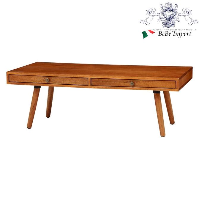 CALMA カルマ ローテーブル 幅110(2101797100) アンティーク調 輸入家具 センターテーブル おしゃれ メンズライク