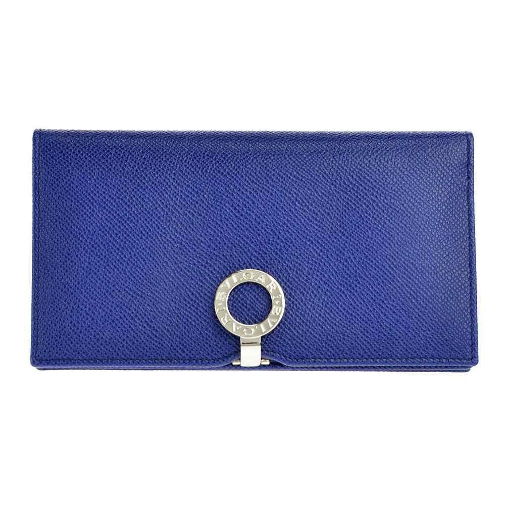 BVLGARI ブルガリ 36321 GRAIN/BLUE DAHLIA 長財布