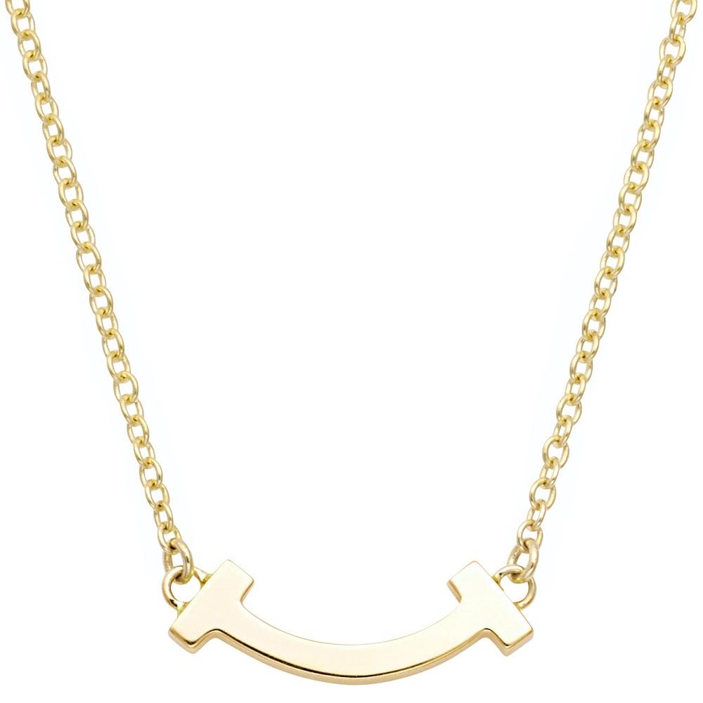 TIFFANY&CO ティファニー 62617659 Tiffany T スマイル マイクロ ペンダント ネックレス 18KYG 41cm~46cm
