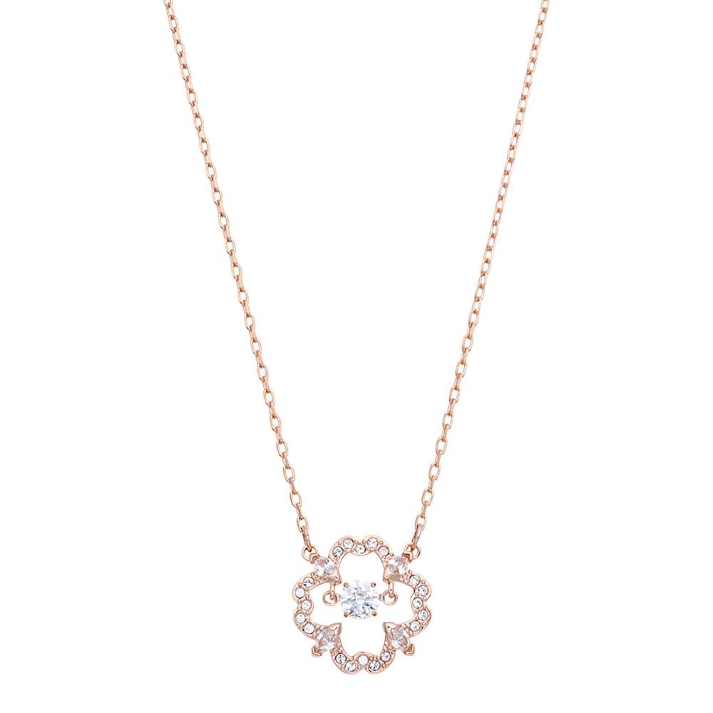 SWAROVSKI スワロフスキー 5408437 ダンシングクリスタル クリスタルパヴェ フラワー ネックレス ペンダント Sparkling Dance Flower Rose Gold 【apsw00514l】