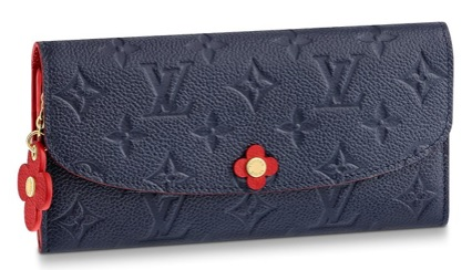 【ルイヴィトン ポルトフォイユ・エミリー フラワー アンプラント/ マリーヌルージュ 】 LOUIS VUITTON M63918 長財布【Luxury Brand Selection】