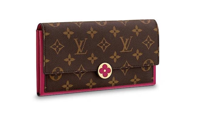【ルイヴィトン モノグラム/フューシャ ポルトフォイユ・フロール】 LOUIS VUITTON 財布 M64585【Luxury Brand Selection】