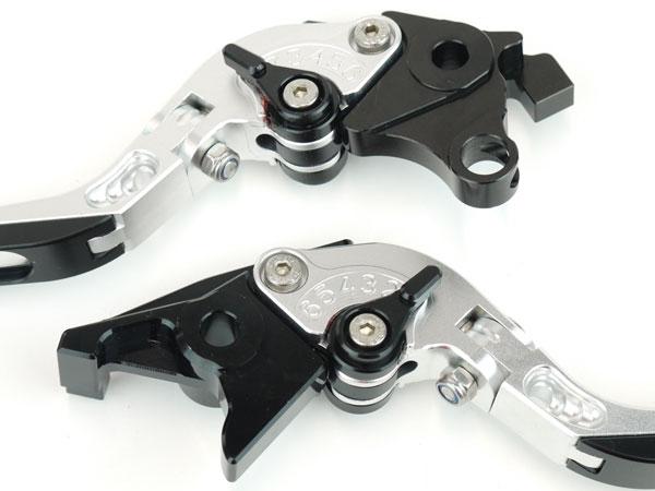 可倒式鋁二讓操縱桿銀子GSX1300R隼隼GW71A GX72A匪徒1200/1250 GSX1400 SV1000/S GS1200SS TL1000R