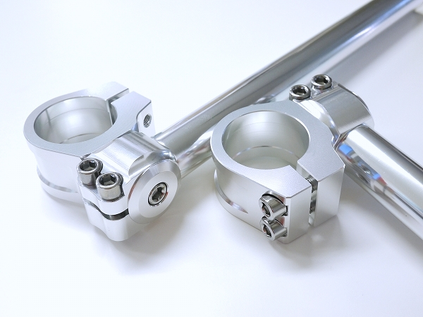 41mm Clip ons Handle bars Angle-adjustable Universal fits silver LOW