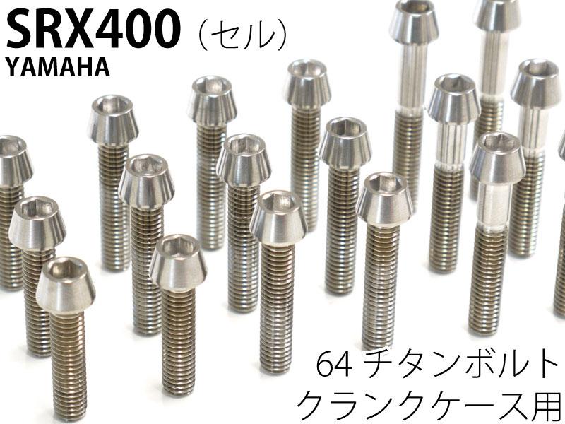 カスタム パーツ SRX400セル クランクケース用 新発売 激安 64チタンボルトセット テーパーキャップ Ti-6Al-4V 焼き色なし エンジンカバーボルト