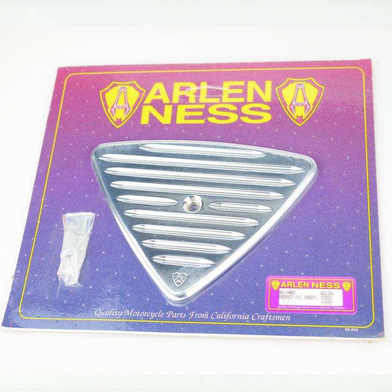 【ARLEN NESS】スティード400/600専用 アレンネス グルーブドエアクリーナーインサート メッキ エアクリーナーカバー NOS スリット