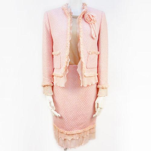 【エスカーダ ESCADA】ピンク スカート スーツ 32サイズ 入学式 フォーマル レディース【中古:美品】