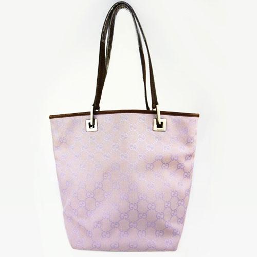 【中古】【送料無料】【GUCCI グッチ】GGキャンバス トートバッグ 薄紫色
