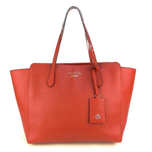 【中古】【送料無料】【GUCCHI グッチ】赤 レザートートバッグ style/354397