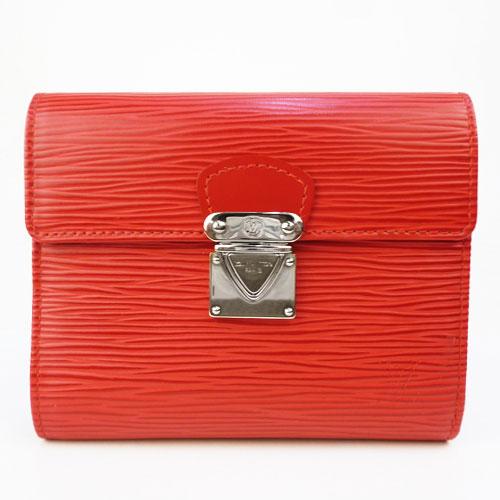 【中古】【送料無料】【LOUIS VUITTON ルイ・ヴィトン】ポルトフォイユ・コアラ エピ コンパクト財布(3つ折り財布) ルージュ style/M5801E