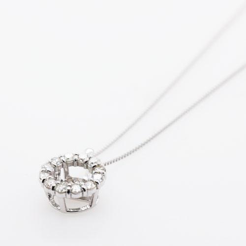 K18WG ダイヤ ダンシングストーン ペンダント ネックレス 0 5ct ホワイトゴールド 新品8P0ZwnkXNO