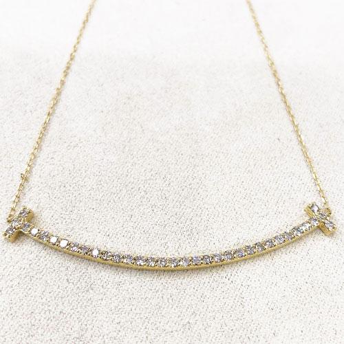 K18YG ダイヤ スマイル ペンダント ネックレス ダイヤ 0.5ct イエローゴールド【新品】