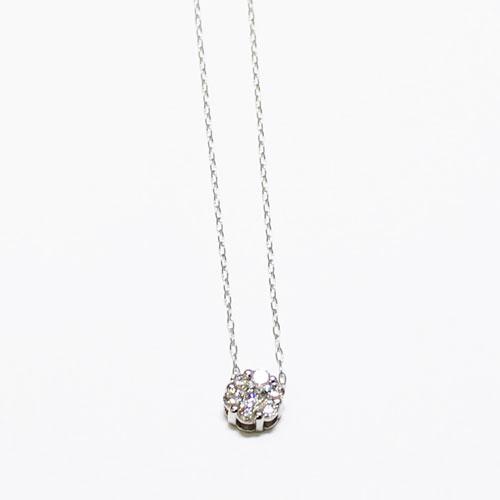 K18WG 1.0ct ダイヤ ペンダント ネックレス【新品】