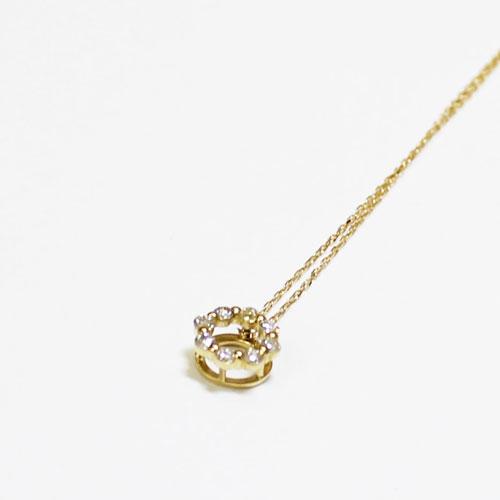 K18YG ダイヤ ペンダント ネックレス 0.1ct イエローゴールド【新品】