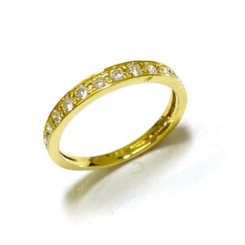 【GGSカード鑑別付】K18YGダイヤ 0.30ct HC ピンキーリング 指輪 イエローゴールド 小指 一文字【新品】