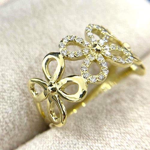 K18YG ダイヤ 0.18ct リング 指輪 新品 永遠の定番 イエローゴールド 気質アップ