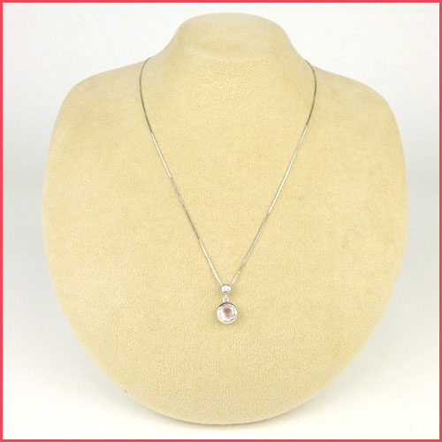 MMC Heart Valentines Mother Child 0.7ct Natural Aquamarine Silver Pendants Necklaces