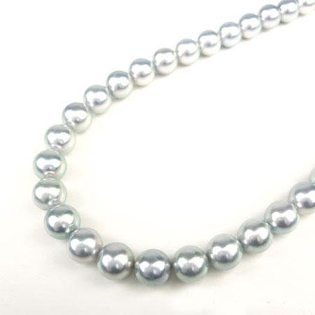 真珠 9.0mm~8.5mm ナチュラル オーロラ 真多麻 パール ネックレス ジュエリー アクセサリー【新品】