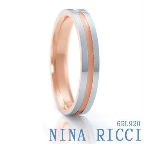 刻印無料【NINA RICCI ニナリッチ】Pt900 K18PG メンズ 6RL920 結婚指輪 マリッジリング【新品・受注】