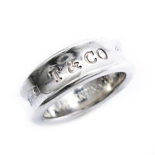 Tiffany Co. 感謝価格 ティファニー 良品 正規品送料無料 SV925 1837 ナローリング シルバー 13号 中古