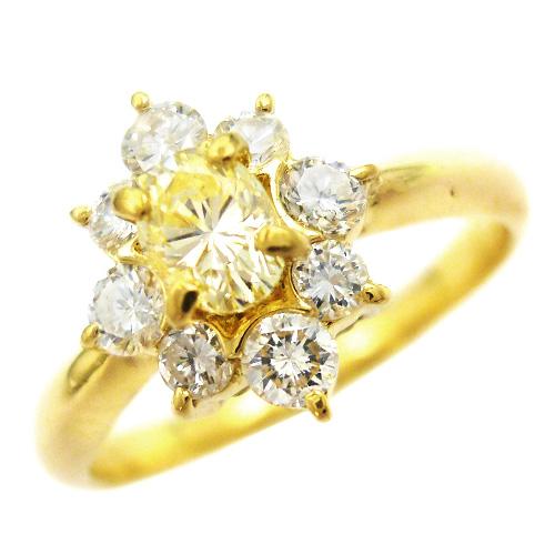 美品 ダイヤ 0.66ct K18 ゴールド リング 指輪 約11号【中古】