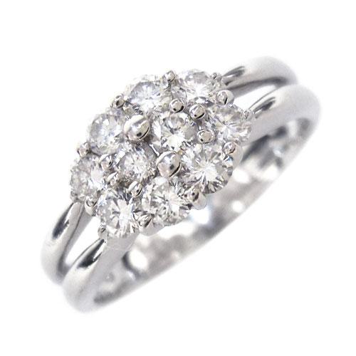 美品 PT900 ダイヤ 0.70ct リング 指輪 約17号【中古】