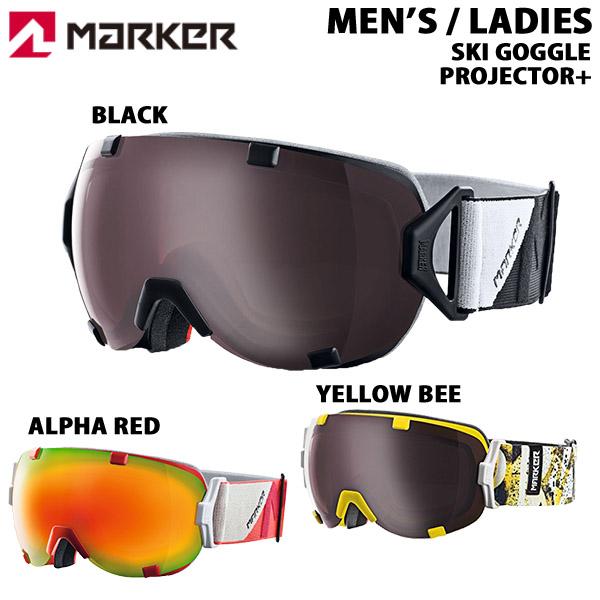 マーカー marker スキーゴーグル スノーゴーグル PROJECTOR+ ASIAN FIT プロジェクタープラス アジアンフィット あす楽対応_北海道