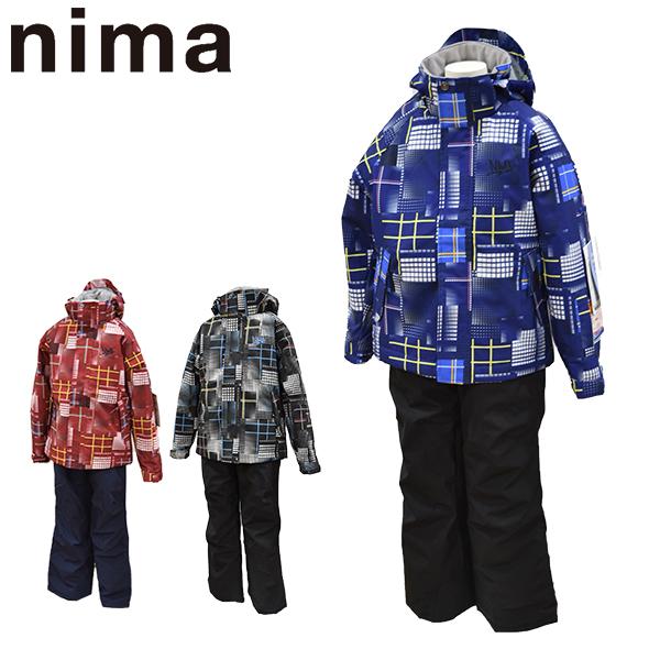ニーマ nima スキーウェア キッズ ジュニア 上下セット JR-8003 あす楽対応_北海道 雪遊び 130 140 150 160