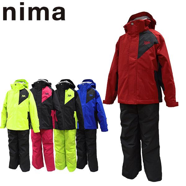 ニーマ nima スキーウェア キッズ ジュニア 上下セット JR-8008 雪遊び 130 140 150 160 ボーイズ ガールズ