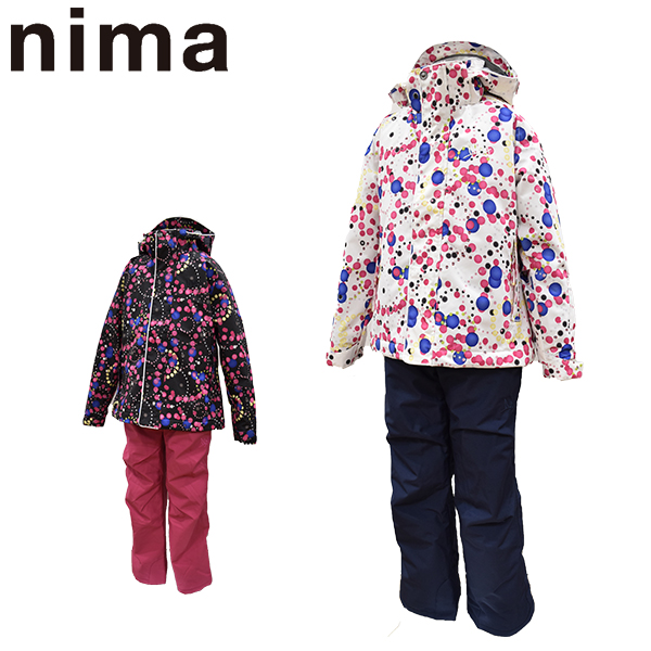 ニーマ nima スキーウェア キッズ ジュニア 上下セット JR-8013 あす楽対応_北海道 雪遊び 130 140 150 160