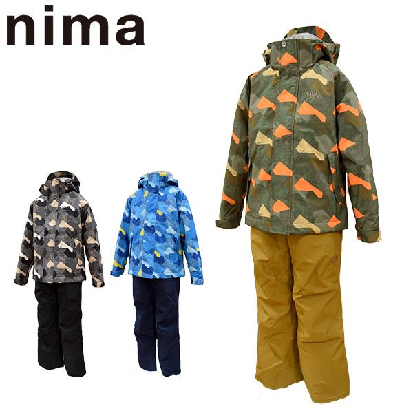 ニーマ nima スキーウェア キッズ ジュニア 上下セット JR-8015 あす楽対応_北海道 雪遊び 130 140 150 160