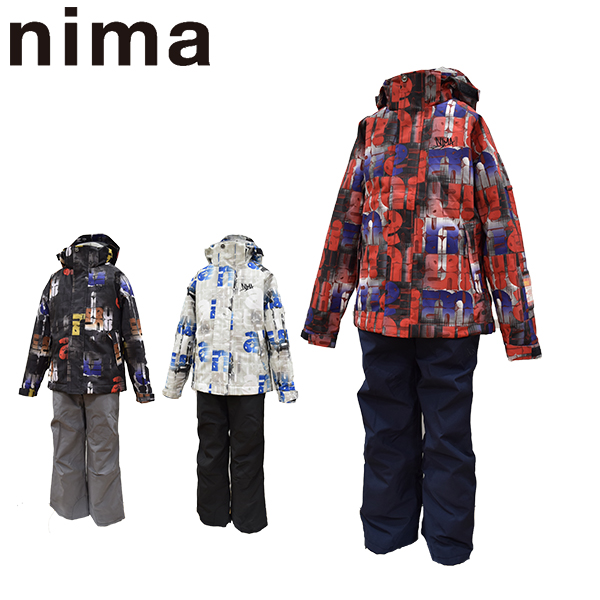 ニーマ nima スキーウェア キッズ ジュニア 上下セット JR-8001 あす楽対応_北海道 雪遊び 130 140 150 160