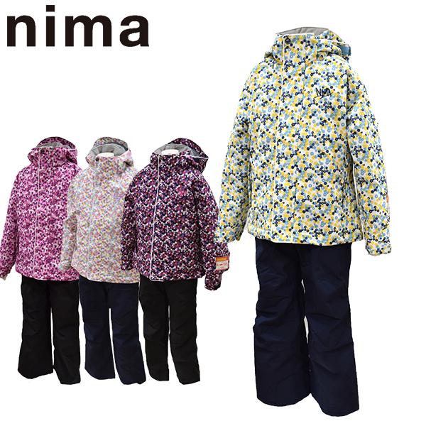 ニーマ nima スキーウェア キッズ ジュニア 上下セット JR-8010 あす楽対応_北海道 雪遊び 130 140 150 160