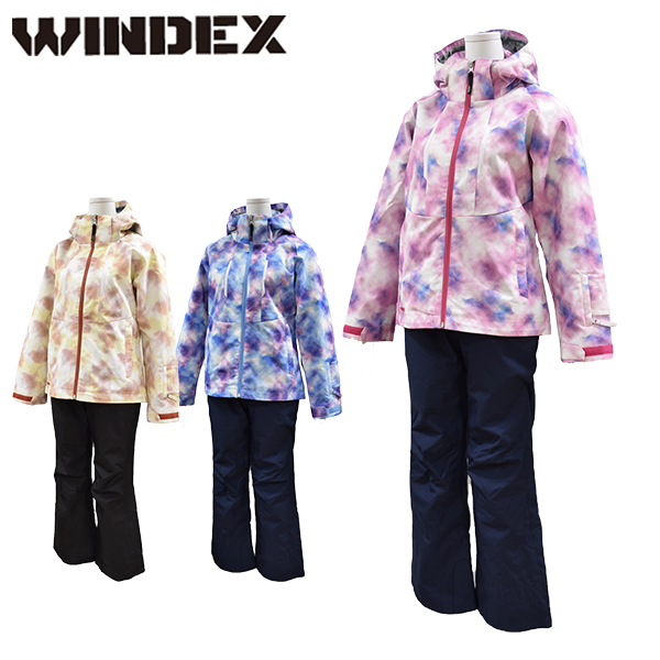 ウインデックス windex スキーウェア レディース M L LL スノーウエア スキーウエア 上下セット WS-1304【あす楽対応_北海道】