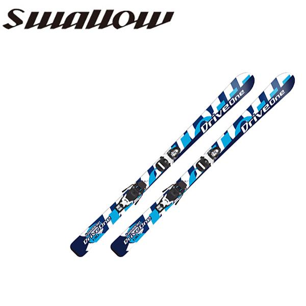 【送料無料】swallow/スワローキッズ/ジュニア/ボーイズ/スキー板/ビンディング付きDRIVE ONE+LOOK TEAM-4